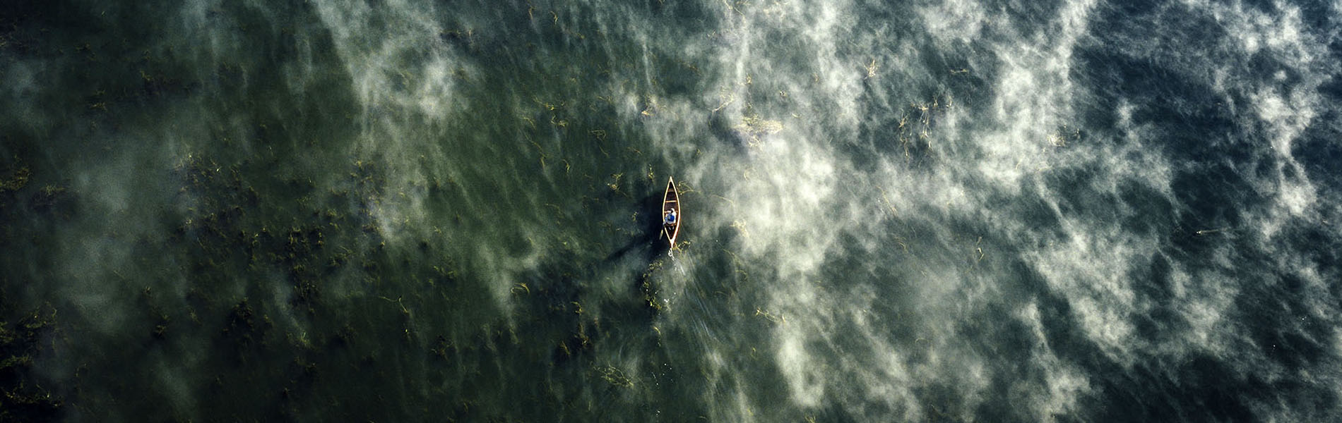 Aerial view of a canoe (Photo: Goh Iromoto)