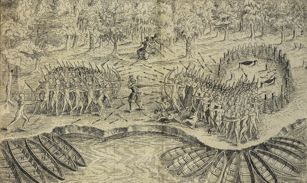 Champlain Battle Sketch Lac