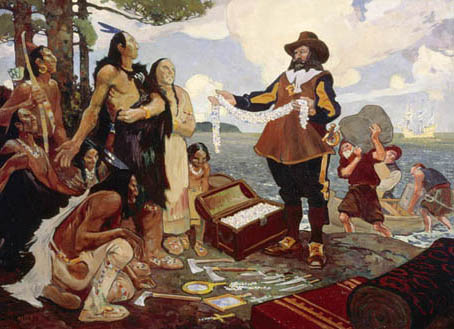 Exh Champlain Eyes Of Na Champlain Trading With Indians